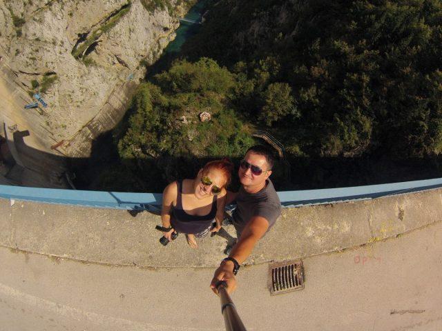 Amazinh canyon Piva and Piva lake