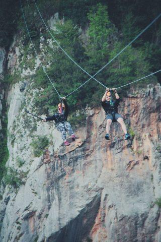 Nacionalni park Durmitor: Žabljak: red rock zipline