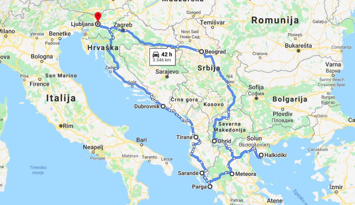 Načrt potovanja: Balkan trip (15. dni)