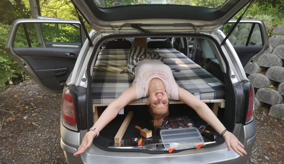 Our car can also be a bedroom