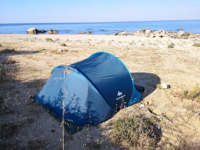 grčija divje kampiranje