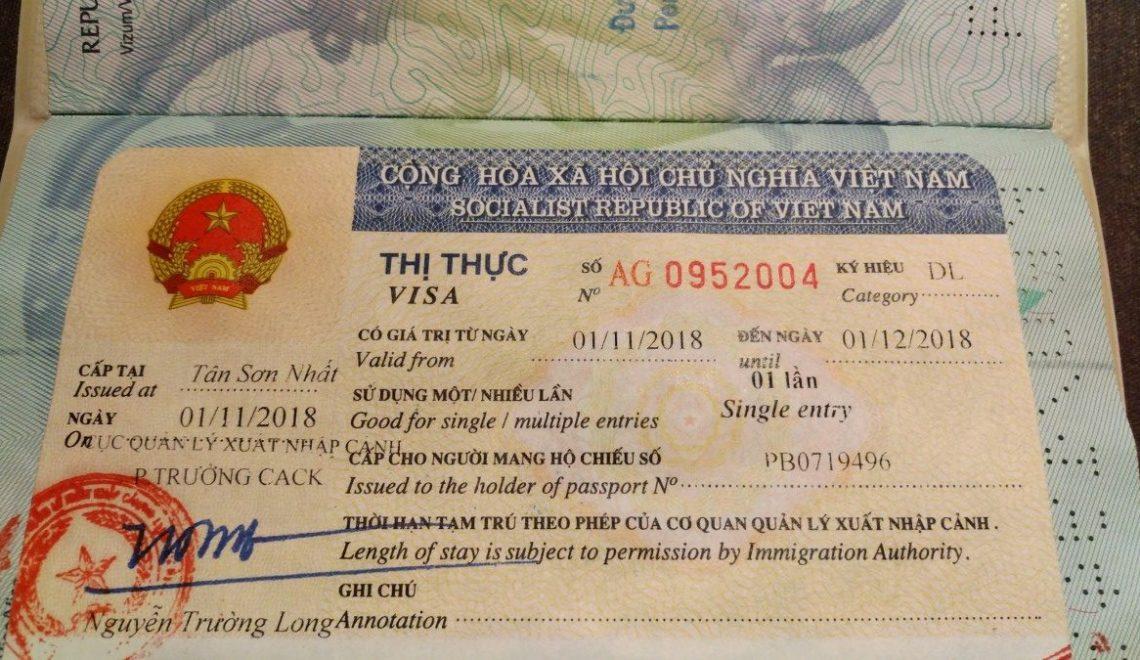 Viza za Vietnam