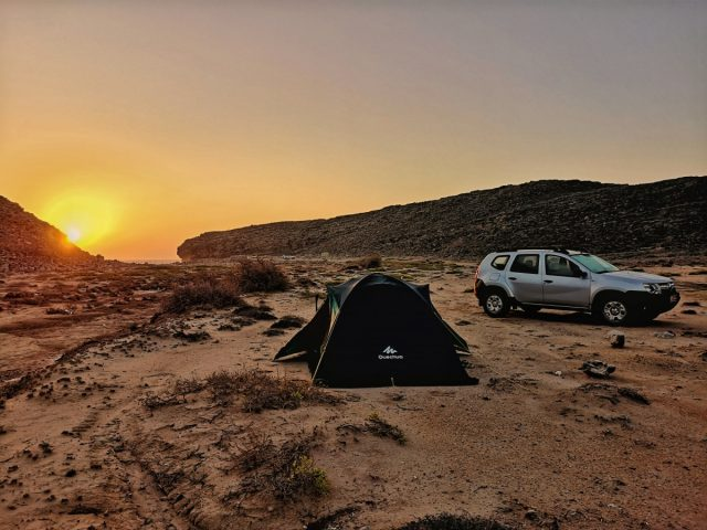 Kampiranje v Omanu, naravni rezervat Ras Al Jinz