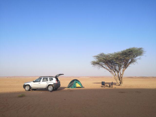Kampiranje v Omanu, puščava Wahiba