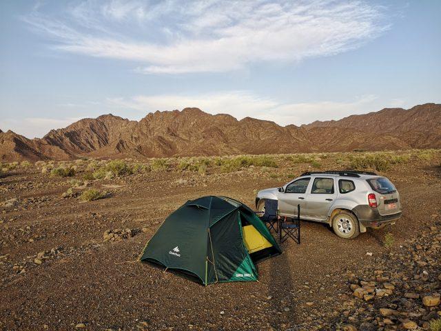 Kampiranje v Omanu, okolica Nizwe