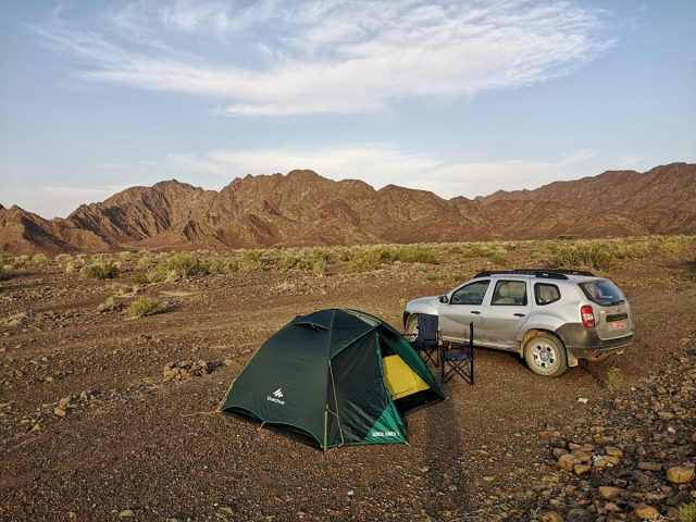 Oman camping, near Nizwa