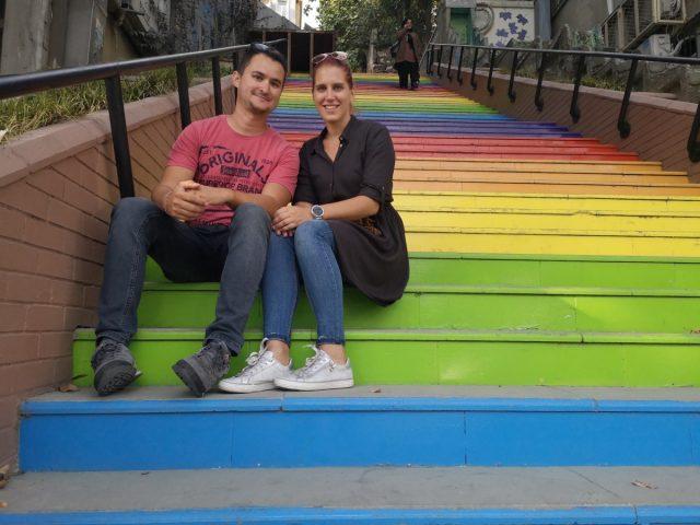 Istanbul - mavrične stopnice