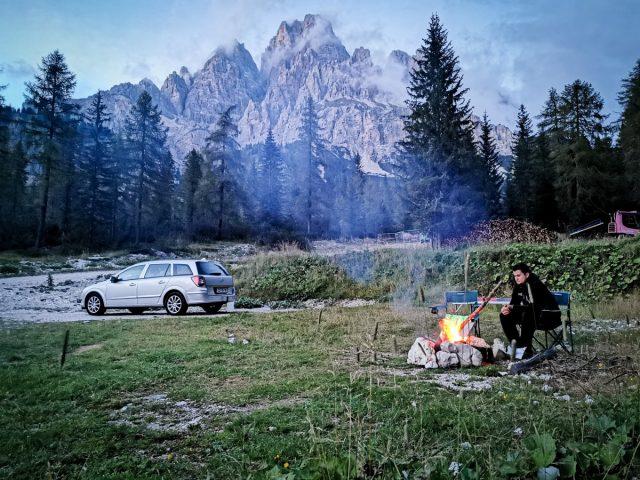 Podaljšan vikend v Dolomitih: divje kampiranje