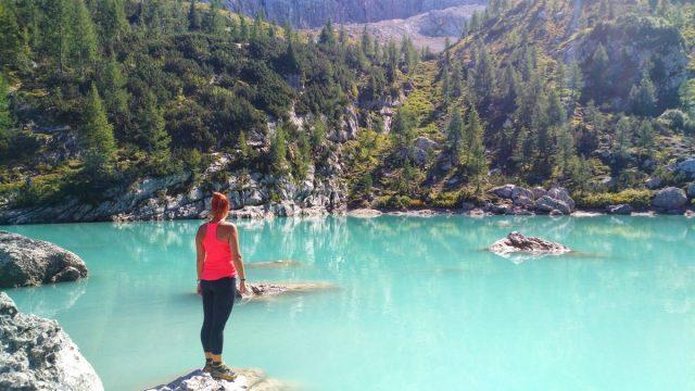 Wonderful Lake Sorapis in the Dolomites