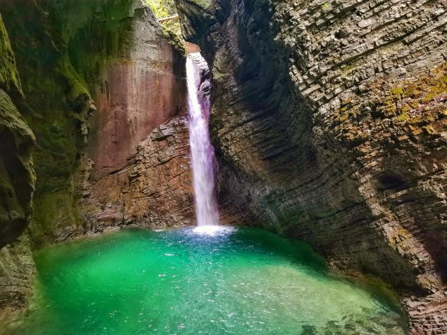 7 most beautiful waterfalls in Slovenia: kozjak waterfall