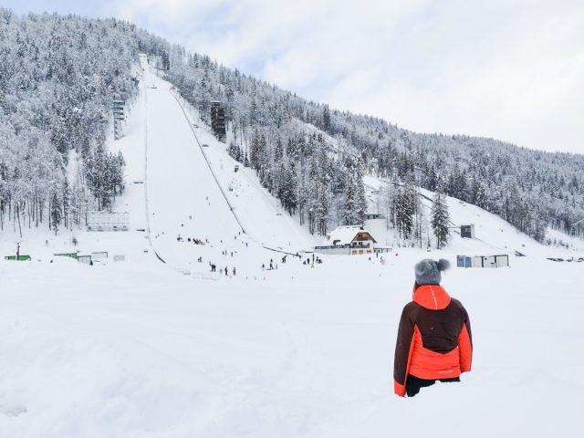 Zimska idila in sankanje v dolini Tamar: planica