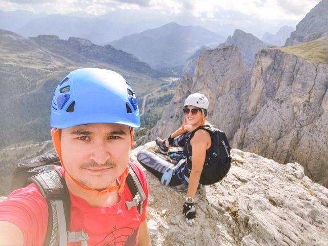 Plezalno pohodniški roadtrip po Dolomitih: ferata degli alpini